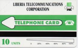 LIBERIA PHONECARD LIBERIA TELECOMMUNICATIONS CORPORATION/MAP  - 10units-MINT(2) - Liberia