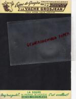 39 - LONS LE SAUNIER - ARDOISE CARTON PUBLICITAIRE FROMAGERIE LA VACHE GROSJEAN- GRUYERE-MONT HOUY - Publicités
