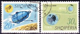 Albanien Albania Albanie - Luna 10 (Mi.Nr.: 1067/70) 1966 - Gest. Used Obl. - Albania