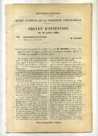 - PLAQUES EN PLOMBPOUR ACCUMULATEURS ELECTRIQUES .  BREVET D´INVENTION DE 1902 . - Radio & TSF