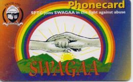 SWAZILAND  PHONECARD(CHIP) SWAGAA   SWA 10-3/02-USED(2) - Swaziland