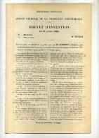 - MOTEURS A COMMANDE MECANIQUE DES SOUPAPES D'ADMISSION .  BREVET D´INVENTION DE 1902 . - Machines