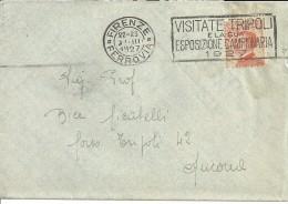 FASCISMO TARGHETTA PUBBLICITARIA  VISITATE TRIPOLI E LA SUA ESPOSIZIONE CAMPIONARIA 1927 - Nuevos