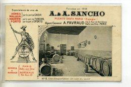 ESPAGNE EL PUERTO DE SANTA MARIA Vins Fins A-A SANCHO  D'espagne Et Portugal  Chaix D'exportation Coin Lavoir /D02-2016 - Unclassified