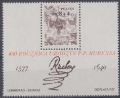 POLAND - 1977 Painting Souvenir Sheet. Scott B134. MNH ** - Blocks & Sheetlets & Panes