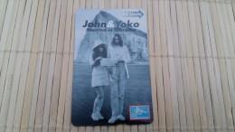Phonecard Gibraltar John & Yoko 605 L Condition Mint Or Used Not Sure ? Rare ! - Gibraltar