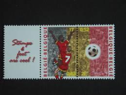 België Belgique Belgium 2000 Voetbal Football UEFA Vignet+ 2892+2893 =  2892C MNH ** - Unused Stamps