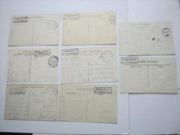 Frankreich , Kav. Kraftwagenkolonne,  8  Carte  Militaire - Marcofilie (Brieven)