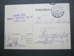 1915  , LÖTZEN     , Klarer Ortsstempel Auf  Feldpostkarte Mit Truppensiegel - Brieven En Documenten