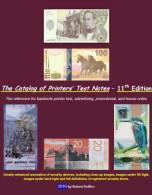 Catalog Of Printer's Test Notes, 11th Ed -2016, 519 Pages, 2700+ Images - Bankbiljetten