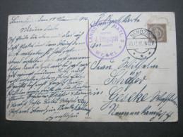 1916 , BENDZIN      , Klarer Ortsstempel Auf  Feldpostkarte Mit Truppensiegel Wesel - Brieven En Documenten