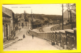 PEPINSTER : LA GARE & VOIE DE SPA - STATION - BAHNHOF - Chemins De Fer  U37 - Bahnhöfe Ohne Züge