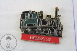 Berga 31 Catalonia Spain Steam Train / Railway - Pin Badge - Transportes