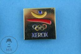 Barcelona 1992 Olympic Games Golden Xerox Advertising Pin Badge - Juegos Olímpicos