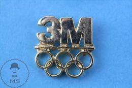 Barcelona 1992 Olympic Games Golden Colour, 3M Company Advertising Pin Badge - Juegos Olímpicos