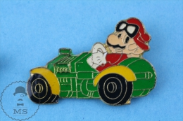 Mario Bross In Green Car Nintendo Advertising Pin Badge - Juegos Olímpicos