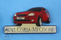 Opel Corsa Mi Coche Spanish Advertising Pin Badge - Transportes