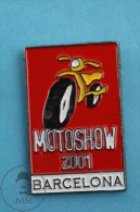 Motorshow 2001 Barcelona Advertising Pin Badge - Transportes