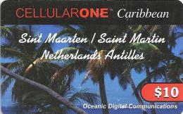 ST. MARTIN $10 PALMS TREES CELLULARONE GSM PIN STAT(?) READ DESCRIPTION CAREFULLY !! - Antilles (Netherlands)