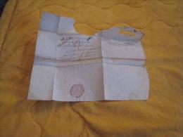LETTRE ANCIENNE DE 1824. / A ETUDIER. / DEPART ?. A VARNOUX ?. / MARQUE POSTALE LE PEAGE. + TAXE - Marcophilie (Lettres)
