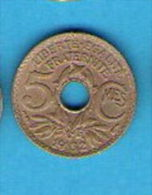 FRANCE 5 Centimes LINDAUER Petit Module   1932 - C. 5 Centimes