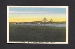 PONTS - BRIDGES - ILE D'ORLÉANS - QUÉBEC - PONT DE L' ILE D'ORLÉANS - ISLE OF ORLEANS BRIDGE - BY CANADIAN ART DEEPTONE - Ponts