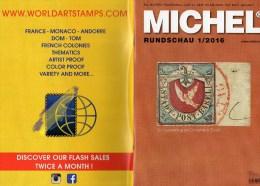 MICHEL Briefmarken Rundschau 1/2016 Neu 6€ New Stamps Of The World Catalogue/ Magacine Of Germany ISBN 978-3-95402-600-5 - German