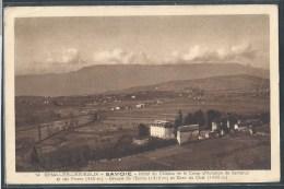 CPSM 73 - Challes-les-Eaux, Hôtel Du Château Et Le Camp D'aviation De Barberaz Et Des Monts - France