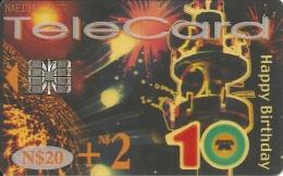 TeleCard, Happy Bithday. Transparent Card - Namibia