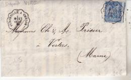 71 Lettre De 1880 Avec Oblit Convoyeur Fleurville à Chalon (double) Complète Tb état - Marcophilie (Lettres)