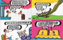 Illustrateur Espagne Forges, Dibujos Humoristicos La Loterie Espagnole X 12 Numéroté 1 à 12 - Autres Illustrateurs