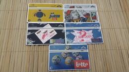 Set 5 Cards Belgium Loterij