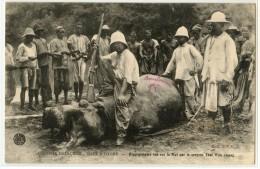 AFRIQUE - COTE D´IVOIRE - HIPPOPOTAME TUE SUR LE N'ZI PAR LE SERGENT THAI WAN CHANG - Côte-d'Ivoire