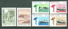 Féroé 1977 / 1978 Yv  18/21*, 33/34*   Mi  24/27*, 39/40* MH (2 Scans) - Islas Faeroes