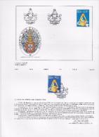 2 SCANS- TIMBRES -STAMPS -MARCOPHILIE- PORTUGAL -1986- 50 ANS DE  ORDRE INGENIEURS- TIMBRE AVEC OBLITERATION 1er. JOUR - - Oblitérés
