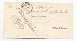 - Lettre - SAVOIE-SARDE - BEAUFORT - Franchise + Càd à Fleuron - 1852 - VOIR - Sardinia