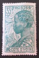 FEMME BAOULE 1936 - OBLITERE - YT 117A - MI 123 - ERREUR TEXTE = FEMME BALOUE - Côte-d'Ivoire (1892-1944)
