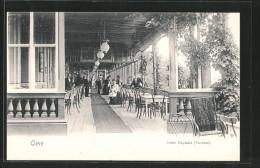 AK Kleve, Hotel Maywald, Terrasse - Kleve