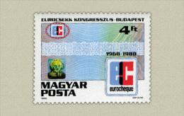 Hungary 1988. Eurocsekk Congress Stamp MNH (**) Michel: 3965 / 0.60 EUR - Ungarn
