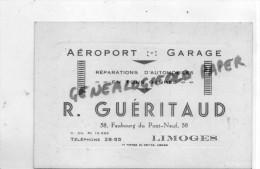 87 - LIMOGES - AEROPORT GARAGE- R. GUERITAUD-58 FG PONT NEUF- AUTO  AUTOMOBILE- - Old Paper