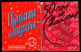 Lot 2 Livres De Chansons - CHANSONS De TOUJOURS, 50 ANS De MUSIQUE - Music