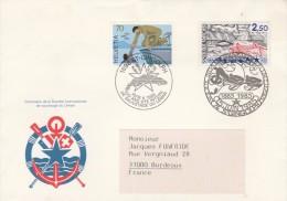 Lettre FDC émission Commune France Suisse Sauvetage Du Lac Léman St Gingolph 1985 - Schweiz