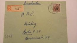 DDR: R-Fern-Brief Mit Aufdruckmk 70 Auf 84 Pf Matt !!! OSt. FRANKENBERG (SACHS) Mit Rs Auszahlungsverm 19.2.56 Knr: 442m - Briefe U. Dokumente