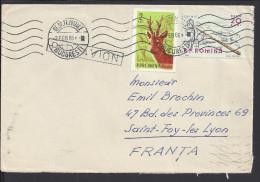 ROUMANIE - 1966 -  ENVELOPPE DE BUCAREST A DESTINATION DE SAINTE FOY-LES-LYON - FR - - Marcofilia