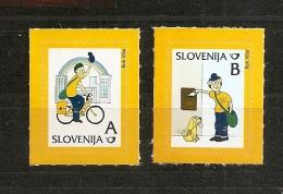 SLOVENIA 2011,MI. NO  894-5,POSTMAN PAULI,ADHESIV,DEFINITIVE,MNH ,,MNH - Eslovenia