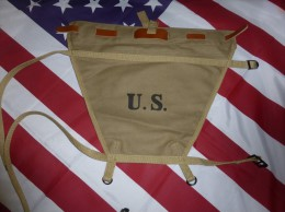 Triangle Trapeze CARRIER PACK Pour Havresac US Modele 1928 ( Haversack M1928 Triangle + Leather Strap ) - 1939-45