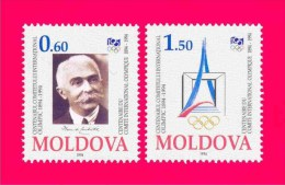 MOLDOVA 1994 Centenary Of International Olympic Committee Sports People 2v Stamps SC#140-141 Michel 126-127 MNH - Moldova