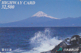Carte Prépayée Japon - VOLCAN MONT FUJI - VULCAN Mountain Japan Prepaid Card - VULKAN Berg Karte - HW 267 - Volcans