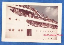 Photo ancienne - FORT de FRANCE , Martinique - D�part d'un beau Paquebot - 1962 - Boat Ship - Epreuve kodak