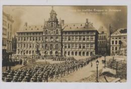 Antwerpen  Duitse Kaart  Intocht Duitse Troepen In Oktober 1914 - Guerre 1914-18